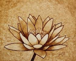 Buy paint brushes of varying sizes, as well as. Coffee Painting Water Lilly Blooming Painting By Georgeta Blanaru