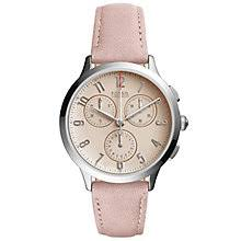 fossil watches men s ladies official fossil h samuel fossil ladies pink dial pink leather strap watch product number 6193579