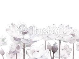手描き水彩蓮の花フレームカードセピアイラスト No 1037673無料