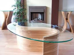 pair of wooden side tables with matching coffee table