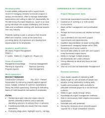 Project Management Skills Resume Project Manager Resume Skills Word