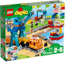 Đồ Chơi LEGO DUPLO 10875 - Xe Lửa Chở Hàng (LEGO Cargo Train)