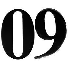 black self adhesive door numbers