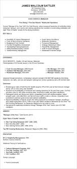 Restaurant Manager Resume Template Resume And Cover Letter