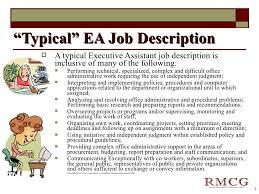 Executive Assistant Job Description Classy Exceptional Executive Assistant