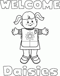 Girl Scout Coloring Pages Welcome Daisies Coloringstar