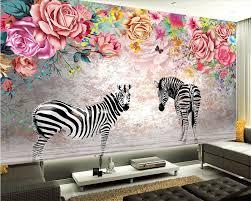 Aliexpresscom Buy Beibehang Custom Wallpaper Beautiful Zebra