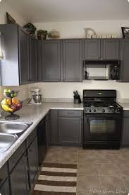painted kitchen cabinets with black appliances. Modren With How To Decorate A Kitchen With Black Appliances And Dark Gray Painted  Cabinets For Painted Kitchen Cabinets With Black Appliances Pinterest