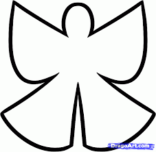 Angel Outline Drawing | Free Download Clip Art | Free Clip Art ...