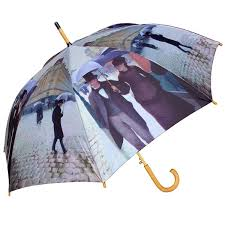 caillebotte paris street umbrella with auto open feature