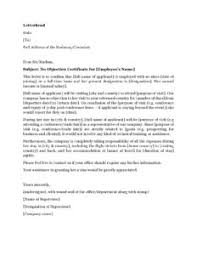 Visa Application Cover Letter Introduction Letter From Company To Embassy Company