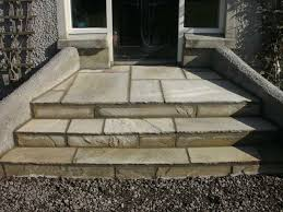 contractor garden front door steps johnston paving contracts