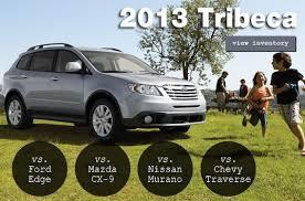 Subaru Model Comparison Chart Compare The 2013 Subaru Tribeca To The Competition