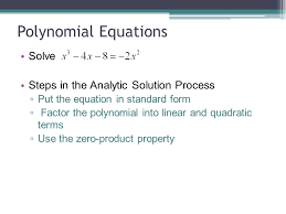 5 polynomial equations solve steps