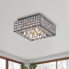 ceiling flush mount lighting crystal mia faceted flushmount