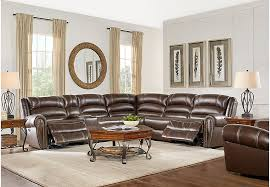 leather sectional living room furniture.  Sectional Donelle Brown Leather 7 Pc Power Reclining Sectional Living Room   Sectionals Brown To Furniture E
