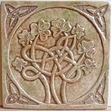 6X6 Decorative Ceramic Tile Decorative handmade celtic shamrock ceramic tile Ireland You 10