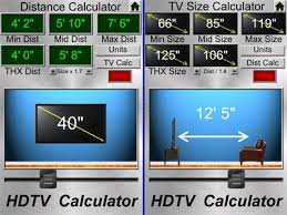 Is your HDTV the right size for your room? What's the best viewing distance  for your TV? This calculator can help you buy the right sized TV or s