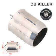 <b>Universal 60mm Removable</b> Silencer Exhaust Pipe Muffler DB Killer ...