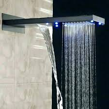 huge shower heads large rain shower head elegant heads for waterfall led all in one installation