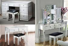 mirrored furniture. foxhunter mirrored furniture glass dressing table with drawer console bedroom
