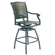 swivel chair patio set wicker bar stool chairs stools outdoor dining sets