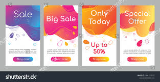 Fluid App Design Sale Abstract Fluid Mobile App Screen Royalty Free Stock Image