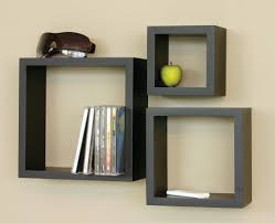 ... Wall Block Shelves Black Stained Wooden Book Shelf Glass Block And Wood  Shelf Decorative Wooden Wall ...