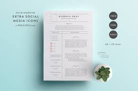 resume templates creative market resume template 3 page