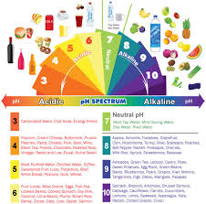 Fruit And Vegetable Acidity Chart Alkaline Acidic Foods Chart The Ph Spectrum