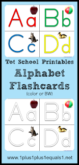 Large colorful alphabet flashcards for kindergarten & preschool! Tot School Printables Abc Flashcards 1 1 1 1