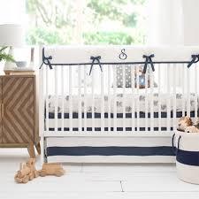 navy and gray arrow nursery bedding aim high crib collection