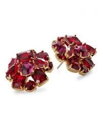 kate spade new york 0600089565718 crystal cer stud earrings red