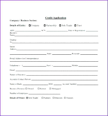 Business Credit Application Form Template Free Wholesale Templates