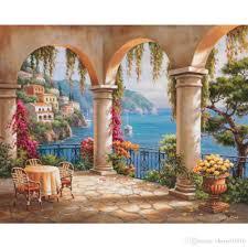 handmade sung kim paintings italian landscapes jpg