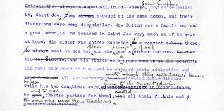 the composing editing and publication of willa cather s obscure  figure 6 edith lewis editing in pencil a passage from the early ribbon copy typescript