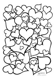 Kleurplaat Hartjes Valentijn Kleurplaten Valentijnen En Dingen