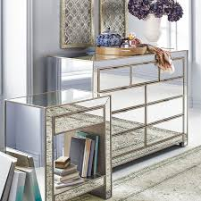 Mirrored Bedroom Set Alexa Mirrored Nightstand Dresser Bedroom Set Pier 1 Imports