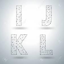 Templates Alphabet Letters Mesh Stylish Alphabet Letters Numbers 6 7 8 9 Vector Illustration