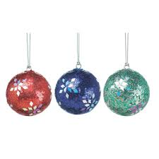 Glass Balls For Decoration Shiny Ball Ornaments Red Blue Green Christmas Tree Ornaments 90