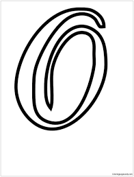 This free english coloring page can be used two ways. Cursive Alphabet Letter O Coloring Page Free Coloring Pages Online