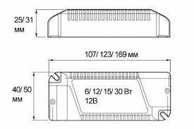 <b>Блок питания</b> для светодиодов 220/12V 12W IP20 купить в Санкт ...