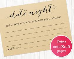 date night invitation template date night ideas card template bridal shower game wedding