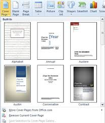 cover page templates for word 2010 how to add a cover page in word 2010 officesmart