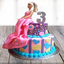 Send Barbie Birthday Cake For Girls Online Ahmedabadbarbie Birthday