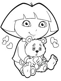 Dora The Explorer Coloring Pages New Free Coloring Pages Dora