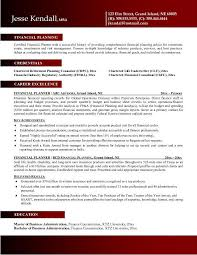 Financial Resume Example Resume Templates