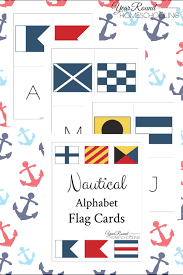 Each symbol is treated separately, with explanation and examples that are at the same time a link to a. Nautical Alphabet Flag Cards Year Round Homeschooling