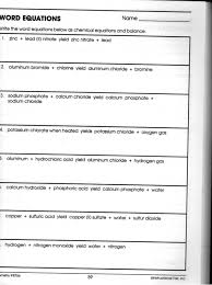 chemistry word equations worksheet free worksheets library