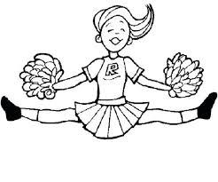 Printable Cheerleader Coloring Pages Hoofardus
